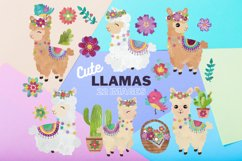 Colorful Llamas - Decorated Llama - clipart - Alpaca Product Image 1
