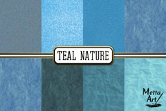 Teal Nature - 16 Digital Papers/Backgrounds Product Image 3