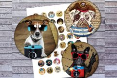 Vintage Dogs, Dogs Images, Digital Collage Sheet, Printables Product Image 4