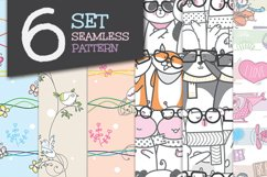 Collection Cute Seamless Pattern Animal Product Image 1
