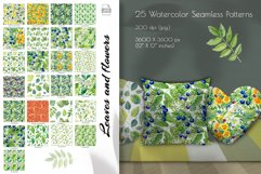 Watercolor clip art. Violet, primrose, juniper, tree leaves Product Image 4