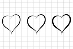 Heart SVG cut file. Love, Happy Valentines Day Cutting Set Product Image 1