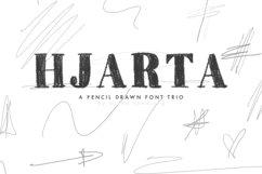 Hjarta - A Pencil Drawn Font Trio Product Image 1