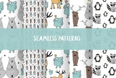 Animals & patterns for baby nursery Cute baby illustrations Product Image 4