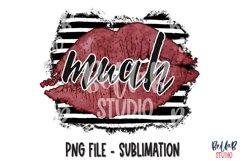 MUAH Sublimation Design, Lips, Valentine's Day Product Image 1