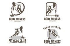 Collection of gym and fitness logo Product Image 1