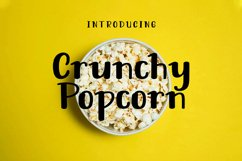 Crunchy Popcorn || cute display font Product Image 1