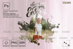 Easter Watercolor overlay & Photoshop overlay Product Image 5