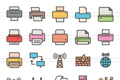 111 Networking & Printers Filled Line Icons Product Image 2