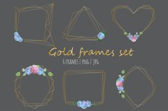 Golld frames with hydrangea Product Image 2