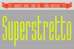 Superstretto Geometric banner logofont 4 family font Product Image 1