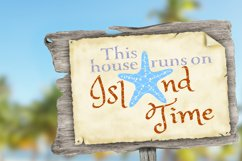 This House Runs On Island Time SVG DXF LL034B Product Image 2