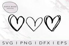 Heart Bundle SVG-Hand Drawn Hearts SVG-Doodle Hearts Svg Product Image 1