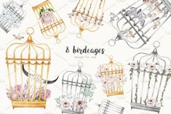 MOTHS and BIRDCAGE watercolor set Product Image 6