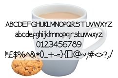 Chocolate Biscuit Font. Product Image 4