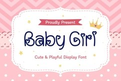 Baby Girl - Cute & Playful Display Font Product Image 1
