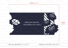 Water Lily Invitation cutting file Product Image 4