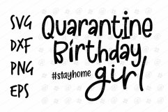 Quarantine Birthday girl SVG design Product Image 1