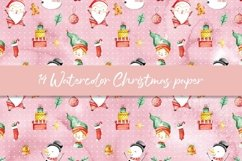 Watercolor Christmas digital paper, seamless pattern Product Image 4