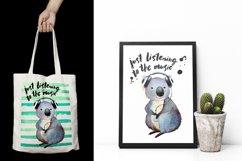 Watercolor koala clipart Product Image 4
