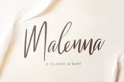 Malenna Script Product Image 1
