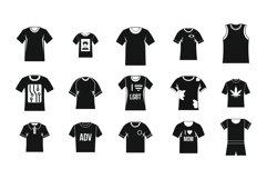 Tshirt icon set, simple style Product Image 1