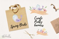 Spring Birds Easter Flower Watercolor 19 Elements Floral Product Image 3