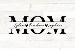 Mothers Day svg, mom svg, mom kid names split monogram Product Image 1