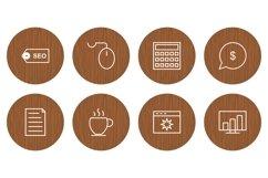 Set Of Search Engine Optimization Icons Product Image 1