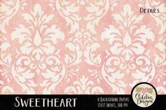 Shabby Damask Sweetheart Background Textures Product Image 5