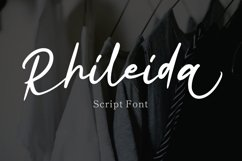 Rhileida - Script Font Product Image 1