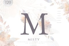 MISTY Dusty Floral Graphics and Monograms Product Image 1