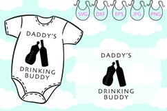 Daddy's Drinking Buddy SVG, Hello World SVG Newborn SVG Product Image 2