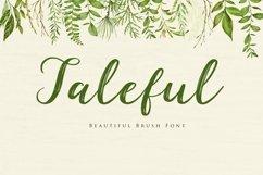 Web Font Taleful Script Product Image 1