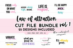 Law Of Attraction Quote SVG Bundle - Colorful Version Product Image 1