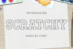 Web Font Scratchy Font Product Image 1