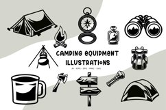 Camping Equipment illustrations Product Image 1
