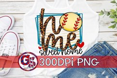 Softball Home Sweet Home PNG for Sublimation Product Image 1