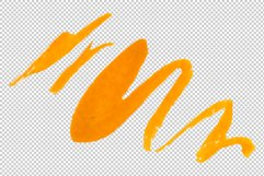 Orange-red Fuchsia watercolor png Product Image 6
