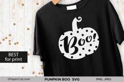 Pumpkin SVG Bundle Halloween Polka Dot Pumpkin Boo Svg Product Image 3
