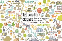 Camping clipart, patterns, designs Product Image 2