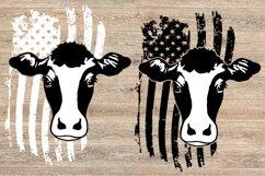 Cow USA Flag SVG cowboy 4th July Farm 1672 Product Image 2