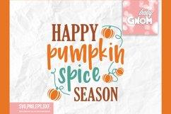 Happy Pumpkin spice season SVG, Fall Vibes svg, Fall svg, Au Product Image 2