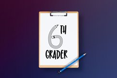 Teacher Monogram Font Product Image 6