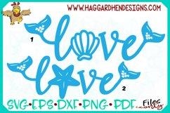 Love Word--Mermaid Theme SVG Product Image 1