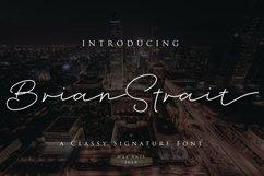 Brian Strait - Signature Font Product Image 1