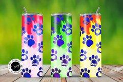 Skinny Tumbler Wraps Watercolor Pet Paws Product Image 1