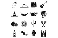 Mexico icons black Product Image 1