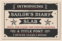 Sailors Diary Title Slab Tattoo Style Font Product Image 1