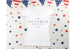Independence Day Mockup Womens T-Shirt in PSD and JPG Product Image 2
